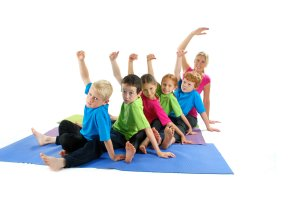 Yoga for Kids - a group of children